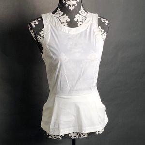Theory sleeveless asymmetric tunic blouse